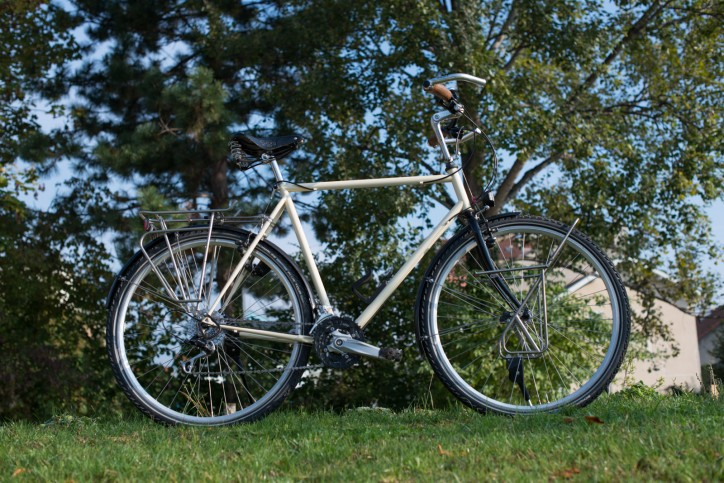 Vélo de voyage Recyclé la Fourmi Deore LX Brooks Tubus Inox