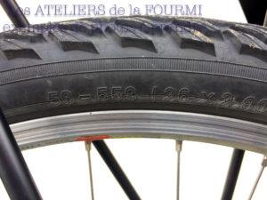 Dimension du pneu (pour montage rohloff)